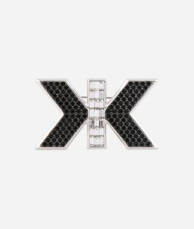 KARL LAGERFELD ART DECO DOUBLE K PIN