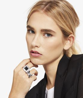 KARL LAGERFELD ART DECO FRAME RING