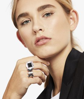 KARL LAGERFELD KL DECO DOUBLE K RING