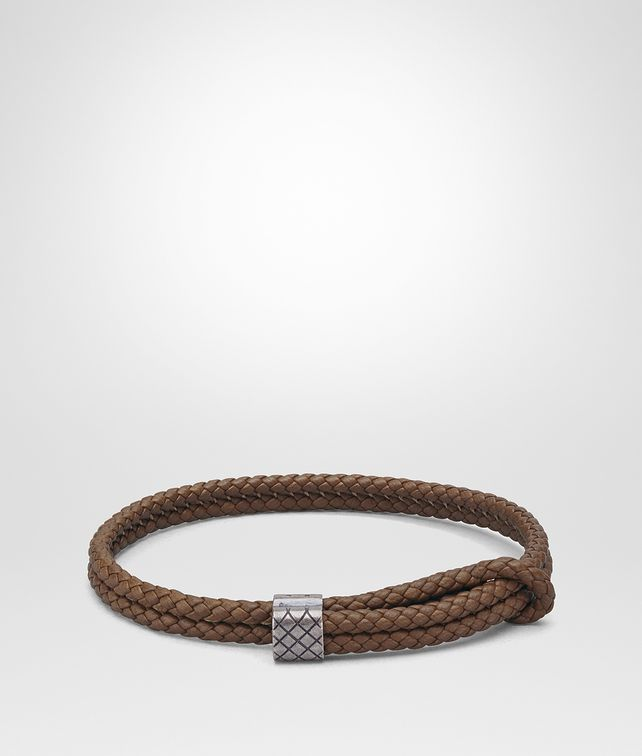 BOTTEGA VENETA DARK CALVADOS INTRECCIATO NAPPA BRACELET Bracelet [*** pickupInStoreShippingNotGuaranteed_info ***] fp