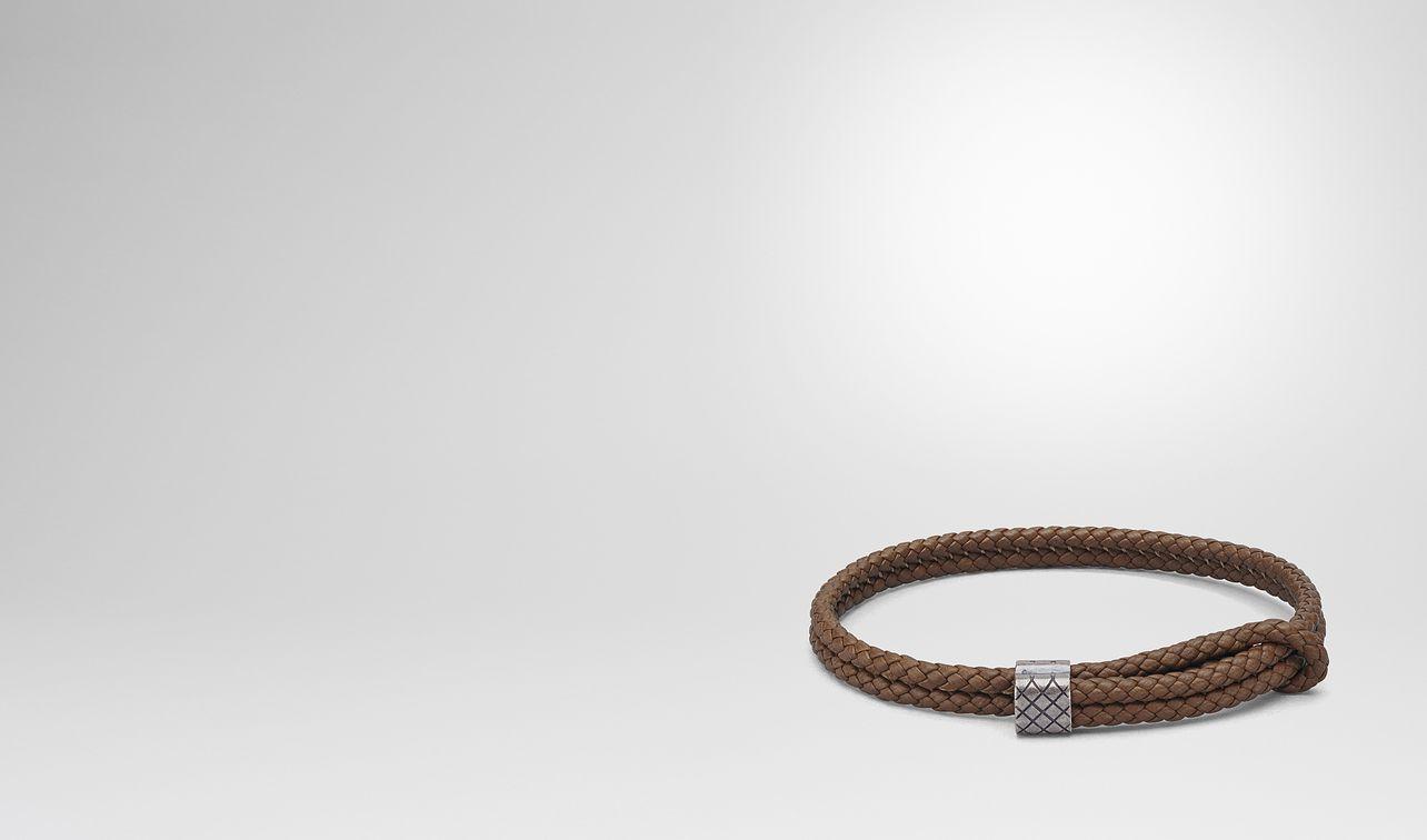dark calvados intrecciato nappa bracelet landing