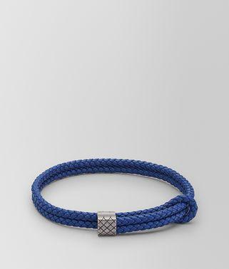COBALT BLUE INTRECCIATO NAPPA BRACELET