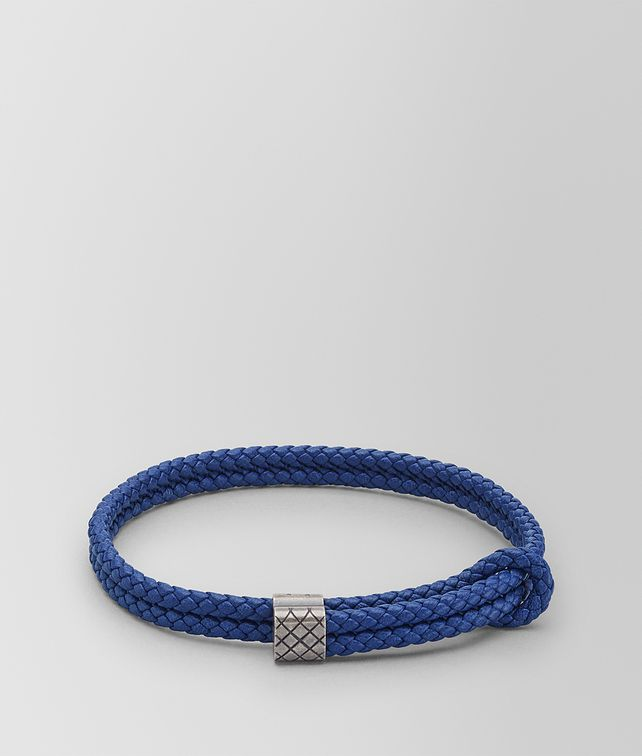 Bottega Veneta cobalt Intrecciato nappa bracelet - Blue 2kMTumj
