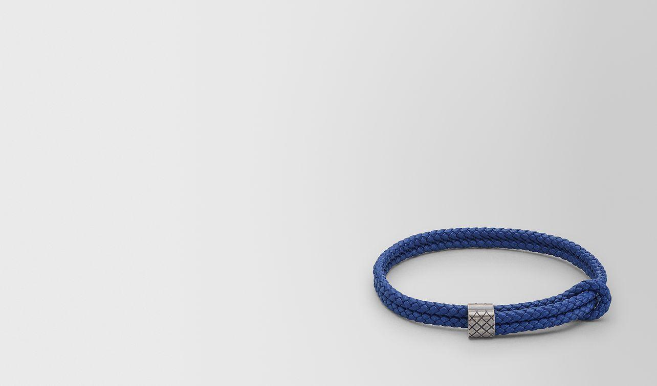cobalt blue intrecciato nappa bracelet landing