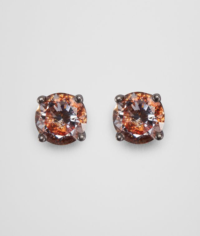 BOTTEGA VENETA BROWN CUBIC ZIRCONIA SILVER EARRING Earrings Woman fp