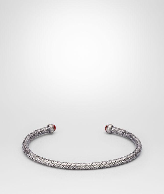 BOTTEGA VENETA OXIDIZED SILVER GARNET BRACELET Bracelet Man fp