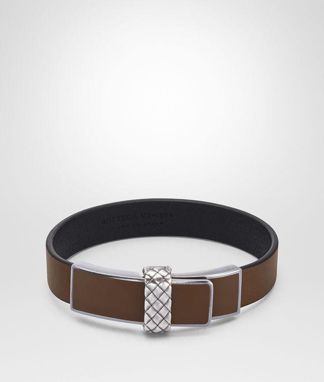 BOTTEGA VENETA DARK CALVADOS NAPPA BRACELET Bracelet Man fp