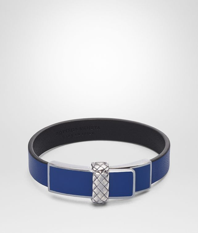 BOTTEGA VENETA BRACELET EN CUIR NAPPA COBALT BLUE Bracelet [*** pickupInStoreShippingNotGuaranteed_info ***] fp