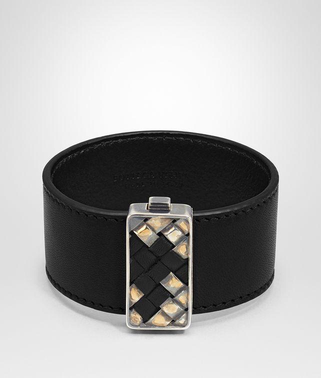 BOTTEGA VENETA BRACELET EN CUIR NAPPA NERO Bracelet Femme fp