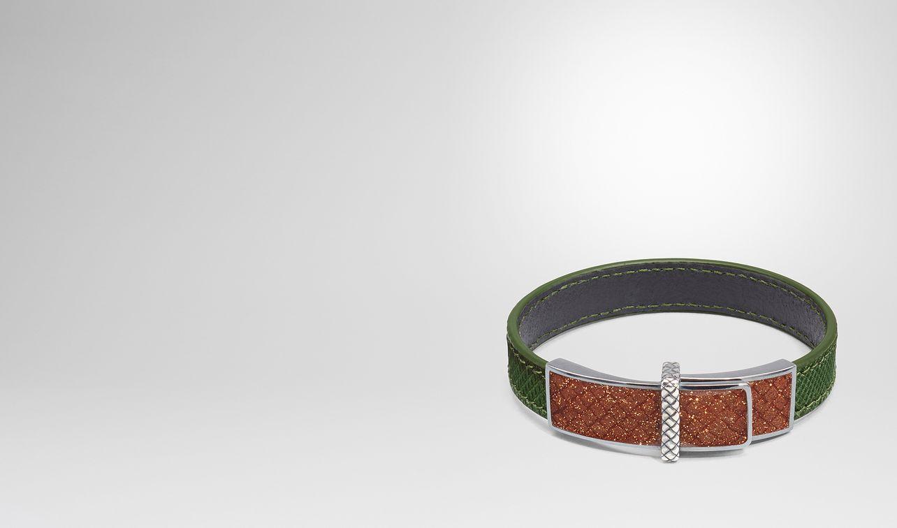 bracelet en karung ivy et émail brown landing