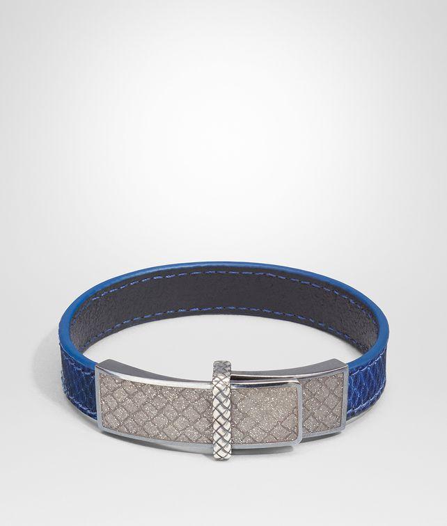 BOTTEGA VENETA BRACELET EN KARUNG COBALT BLUE ET ÉMAIL ARGENTO Bracelet Femme fp