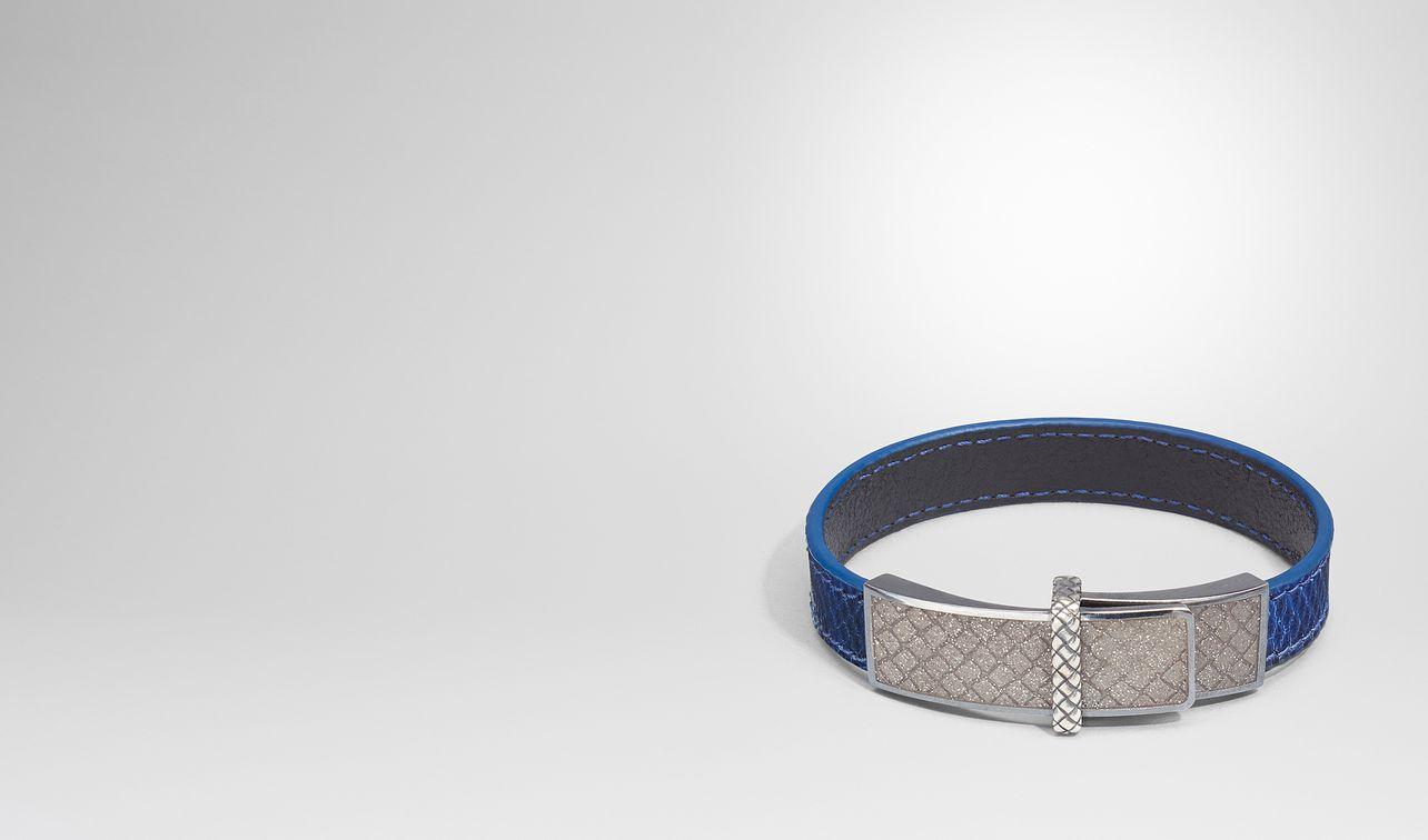bracelet en karung cobalt blue et émail argento landing