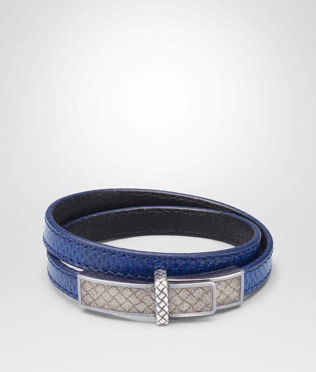 BOTTEGA VENETA BRACELET EN KARUNG COBALT BLUE ET ÉMAIL ARGENTO Bracelet [*** pickupInStoreShipping_info ***] fp