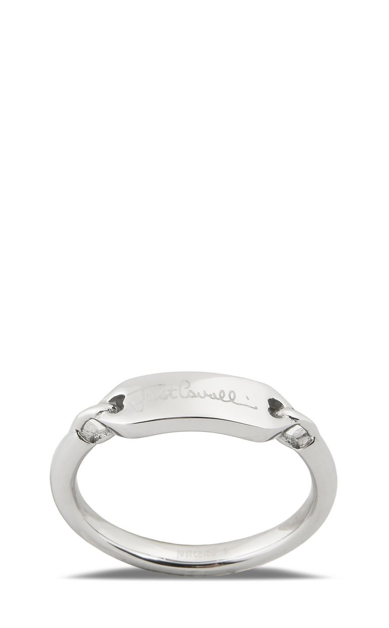 JUST CAVALLI LOGO-theme steel ring Ring Woman e