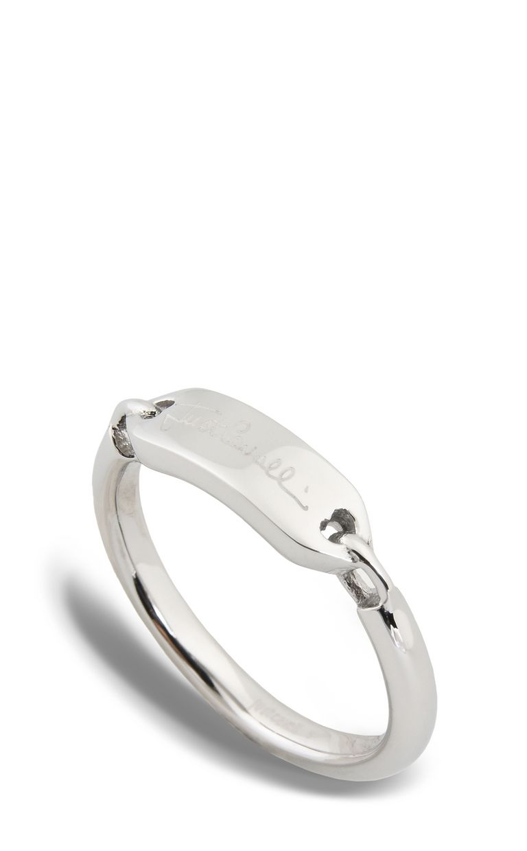 JUST CAVALLI LOGO-theme steel ring Ring Woman f