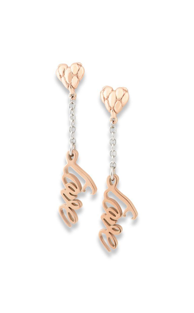 "JUST CAVALLI Dangling ANIMAL ""Love"" earrings Earrings Woman f"