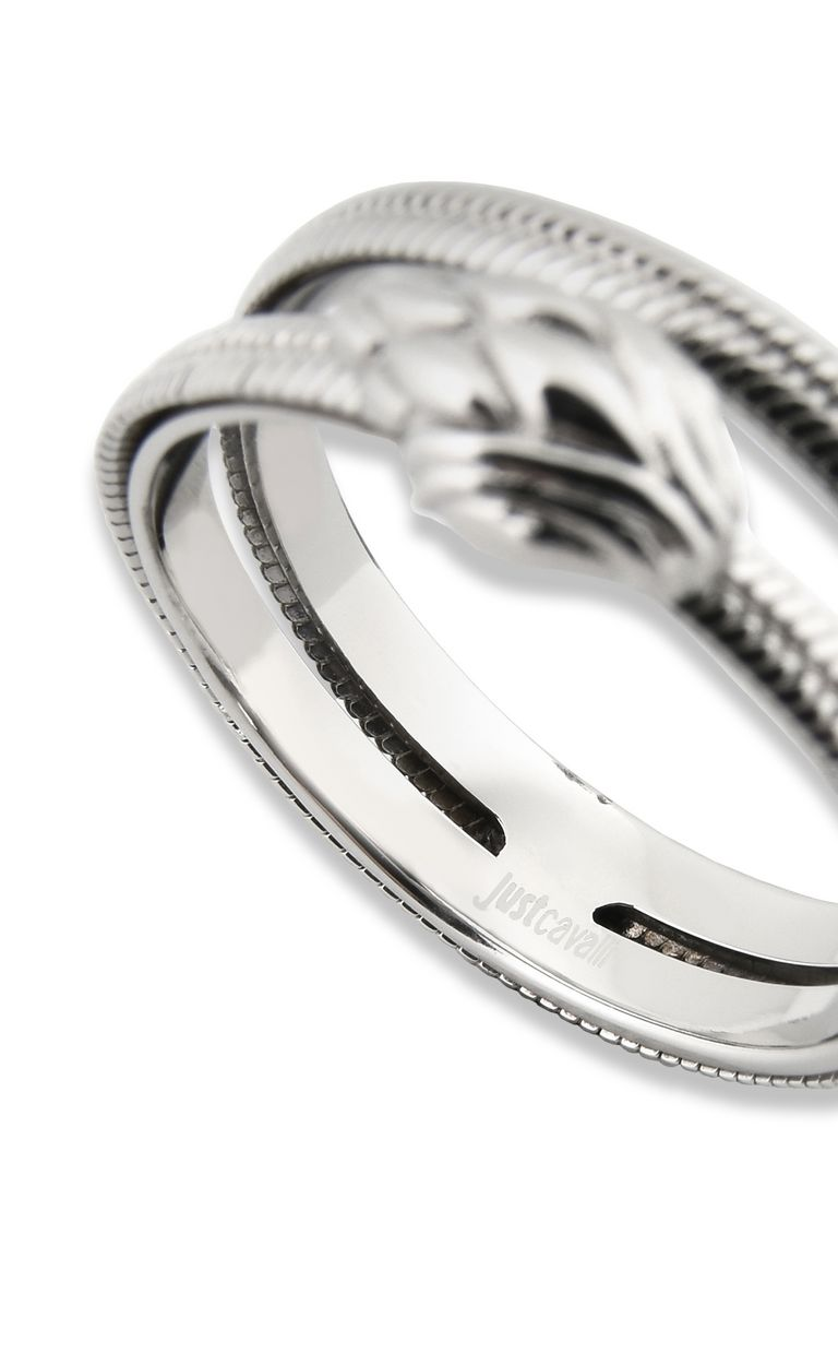 JUST CAVALLI Dual-band snake ring Ring Woman d