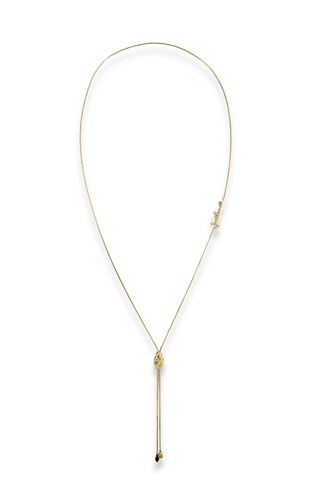 LOGO-theme chain necklace