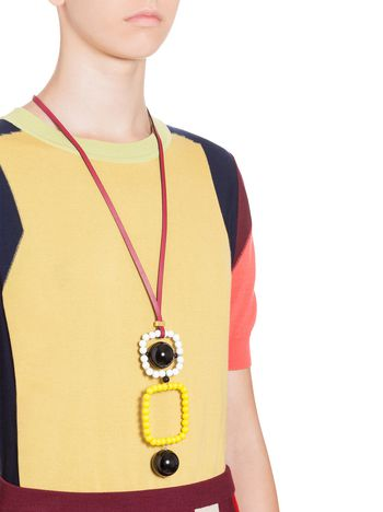 yellow stone singapore pad sg jewellery fff reebonz mode black bgcolor necklace nylon marni white