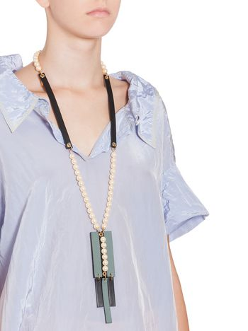 leather at shopstyle necklace corded canada farfetch xlarge necklaces browse abstract marni