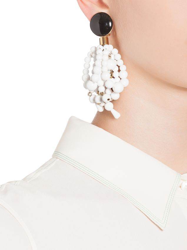 ba6954821010 MARNI Pendientes Mujer Pendientes tipo racimo de resina blanca e
