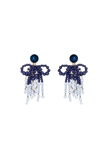 Marni Clip-on earrings in resin blue Woman