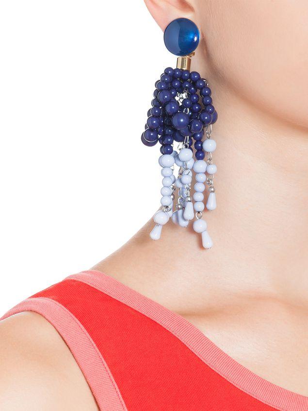 89a3d8600832 MARNI Pendientes Mujer Pendientes de clip de resina azul e