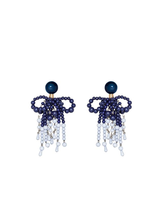 b050fcb7ef8e Marni Pendientes de clip de resina azul Mujer - 1 ...