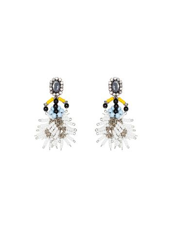 Marni Clip-on earrings in resin and strass Woman