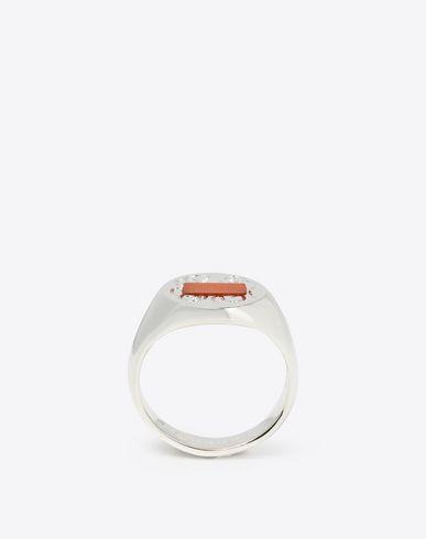 MAISON MARGIELA 指輪 メンズ シルバー シグネット リング f