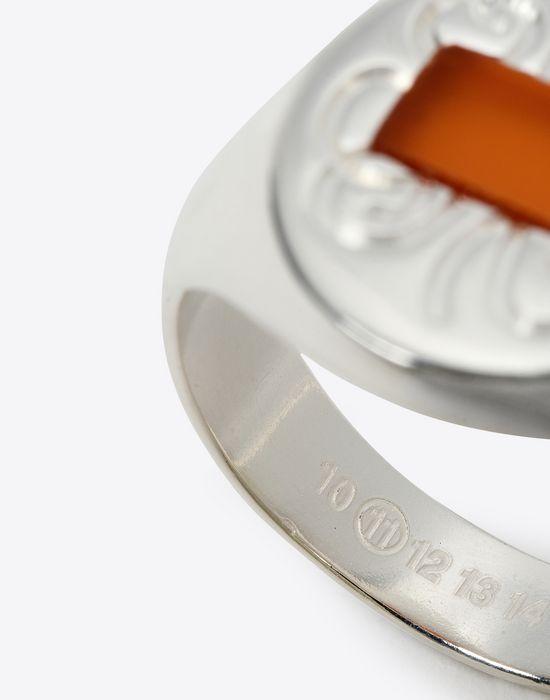 MAISON MARGIELA Silver signet ring Ring Man d