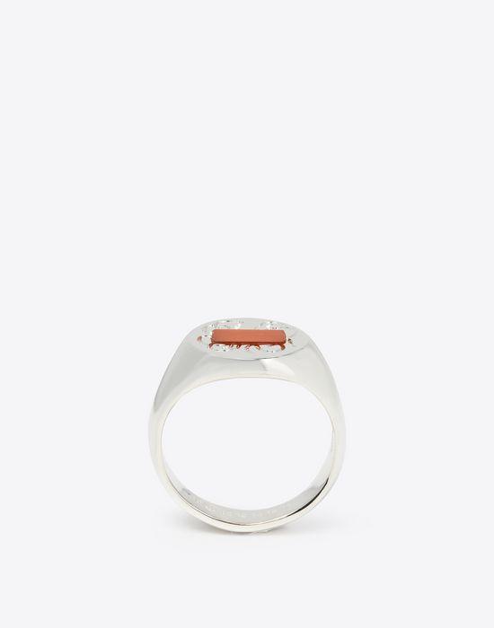 MAISON MARGIELA Silver signet ring Ring Man f