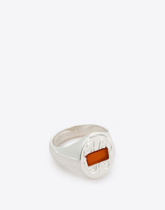 MAISON MARGIELA Silver signet ring Ring Man r