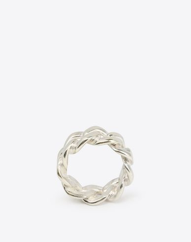 MAISON MARGIELA Ring Man Silver chain ring f