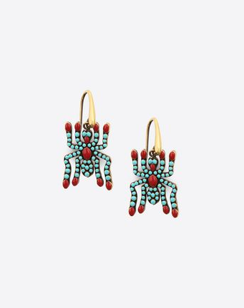 VALENTINO GARAVANI Earrings D Metal earrings with crystals and studs  f
