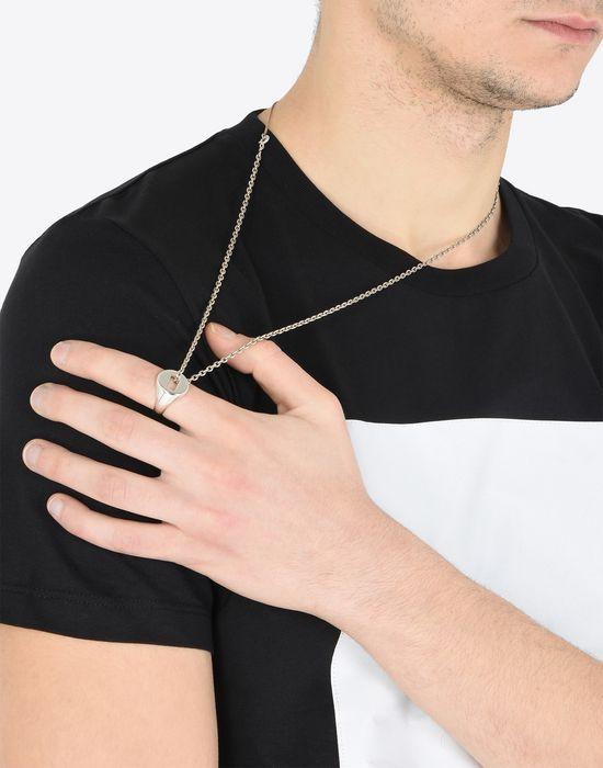 maison margiela silberne halskette mit ringanh nger f r ihn offizieller online shop. Black Bedroom Furniture Sets. Home Design Ideas
