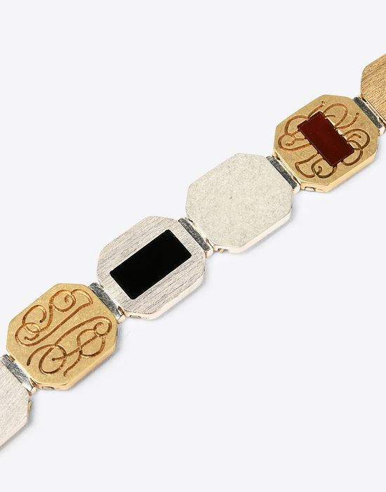 MAISON MARGIELA Linked silver bracelet Bracelet Man d