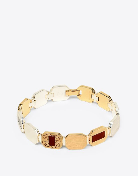 MAISON MARGIELA Linked silver bracelet Bracelet Man f