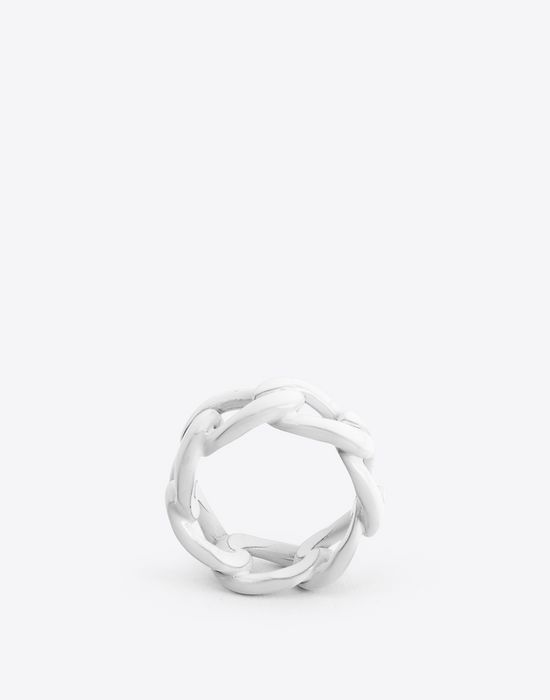 MAISON MARGIELA Painted chain ring Ring Man f