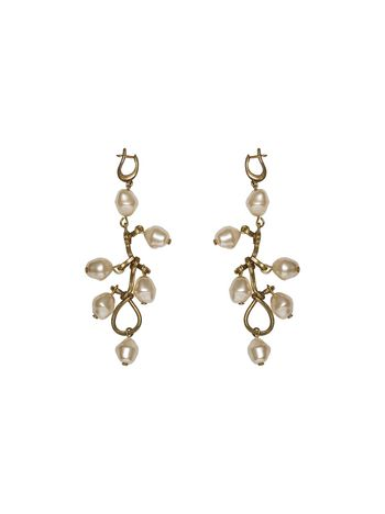 Marni Screw earrings in metal, pearl and glass Woman