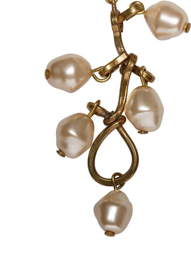 Marni Screw earrings in metal, pearl and glass Woman - 2