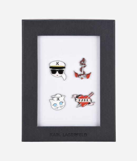 KARL LAGERFELD Captain Karl Pins 12_f