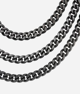 KARL LAGERFELD NECKLACE 3 ROW CHAIN