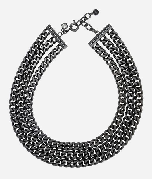KARL LAGERFELD Necklace 3 Row Chain 12_f