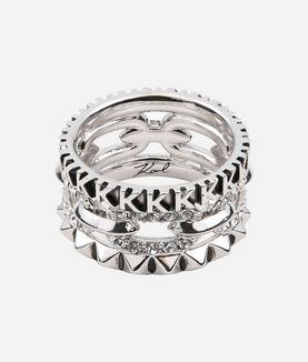 KARL LAGERFELD RING STACK