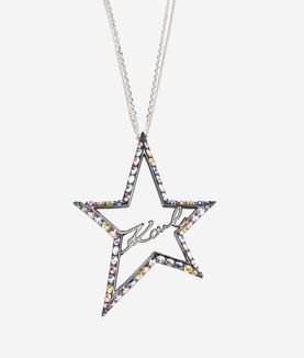 KARL LAGERFELD LONG NECKLACE STAR SIGNATURE
