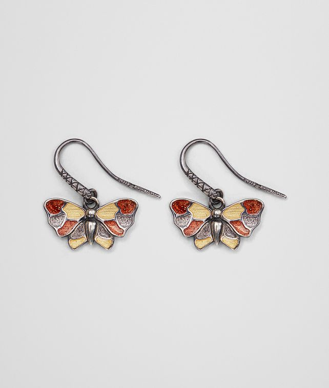 BOTTEGA VENETA MULTICOLOR ANTIQUE SILVER BUTTERFLY EARRINGS Earrings Woman fp