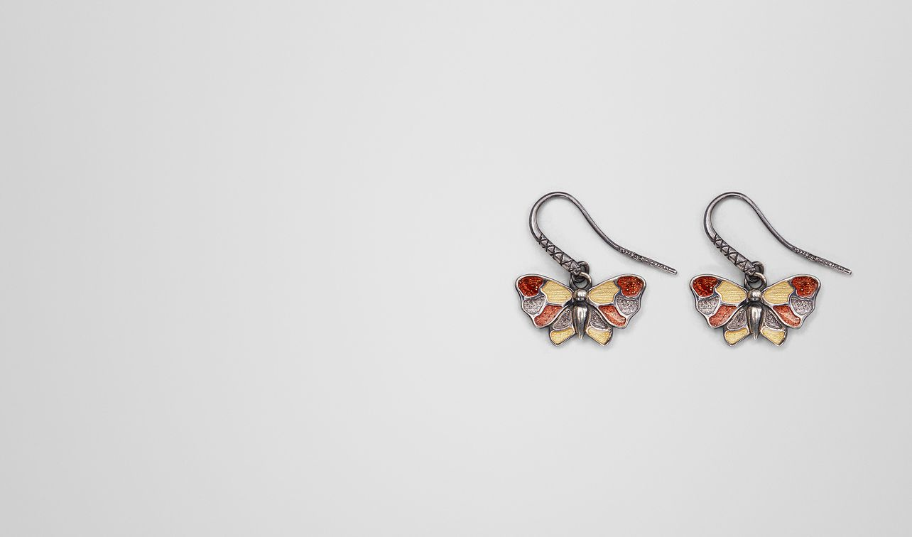 multicolor antique silver butterfly earrings landing