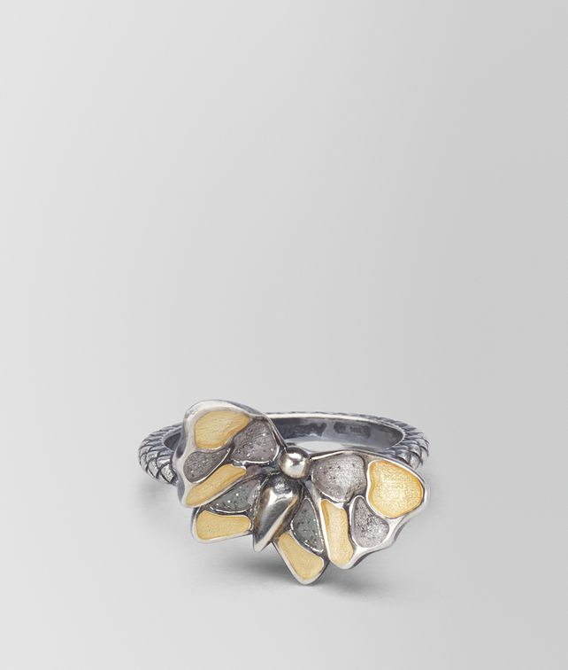 BOTTEGA VENETA BAGUE EN ARGENT ANTIQUE ORO GIALLO BUTTERFLY bague [*** pickupInStoreShipping_info ***] fp