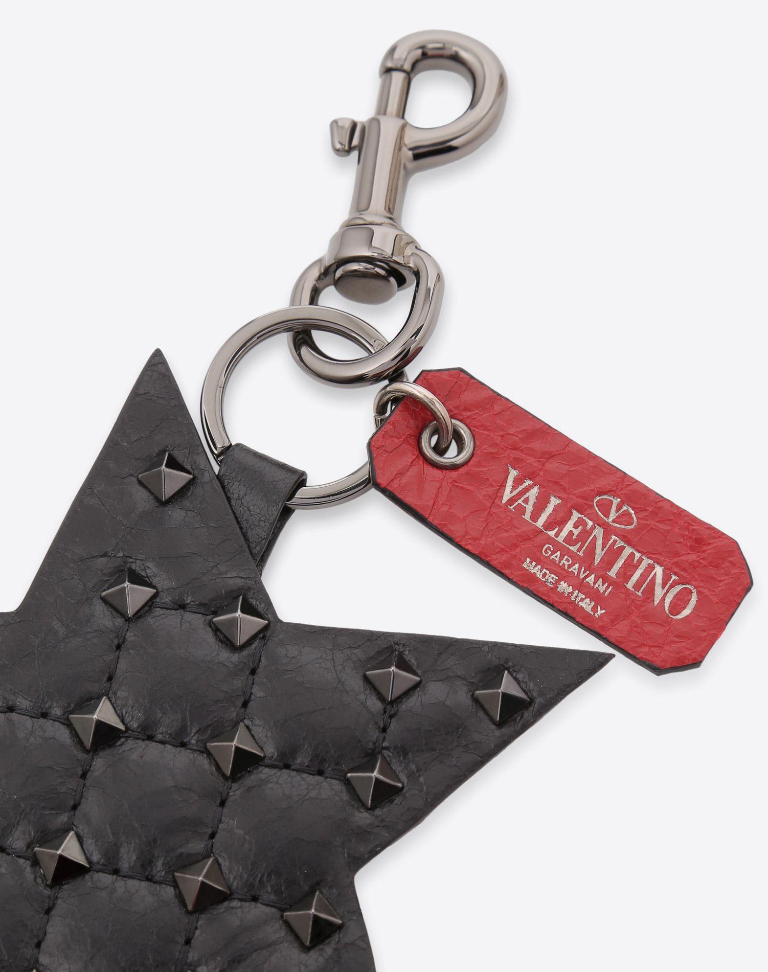 VALENTINO Rockstud Spike Star Keyring CHARMS D d